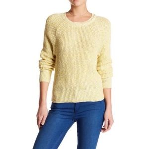 Free People Yellow Electric City Pullover Sweater